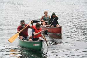 Was a close race for last year's canoe race title!