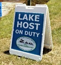 Our New Lake Host Sign
